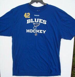 NHL St. Louis Blues #42 Backes XL Reebok T-Shirt - New