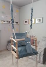 Baby Chair Seat Baby Swing Toddler Toy Wooden Swing 3 In 1 Toy
