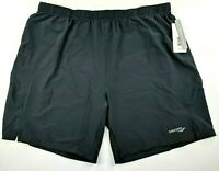 Saucony Mens Run Lux Shorts Running Activewear Black W/Drawstring Size XXL