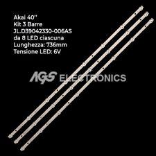 KIT 3 BARRE STRIP LED TV AKAI AKTV409TS CX390DLEDM MS-L1795