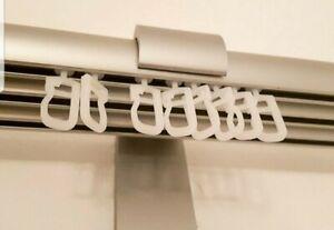 50 Gleiter Röllchen Häckchen Haken Gardinenröllchen passend für Ikea Kvartal NEU