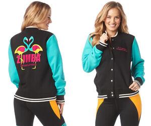 Zumba Happiness INSTRUCTOR Jacket - Black & Teal ~ sz XS & Small ~ New!
