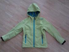 CMP Campagnolo Softshelljacke Gr. 128 mit Kapuze Wind Protect - lemon - Mädchen