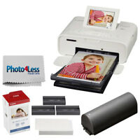 Canon SELPHY CP1300 Photo Printer (White) + KP-108IN Ink and Paper + Battery