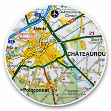 2 x Vinyl Stickers 30cm - Chateauroux France French Travel Map  #44561
