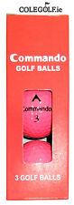 Commando Pink Pitch & Putt Golf Balls - 3 Pack