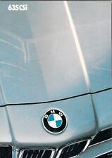 BMW SERIE 6 635 CSi 1986-87 Regno Unito delle vendite sul mercato opuscolo