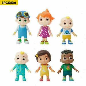 New Cocomelon JJ Cartoon Character 6 pcs Set Figures Toys Doll  Cake Decoration
