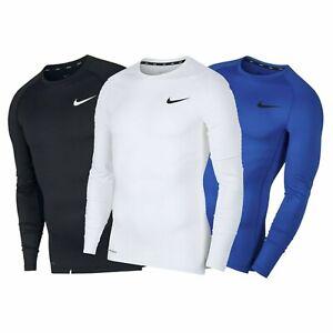 Nike Mens Long Sleeve Compression Shirt Dri Fit TShirt T-Shirt Slim Shirts Size