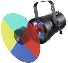 Farbwechsler-Set PAR-36 mit Farbrad / Farbscheibe, Leuchtmittel Pinspot PIN-Spot