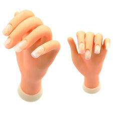 Nail Art Practice Soft Plastic Right Hand Display Training Flexible Finger Tool