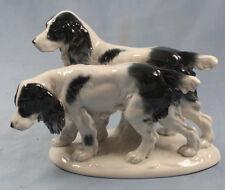 setter gruppe hund Figur Fasold Stauch porzellan 1915 porzellanfigur