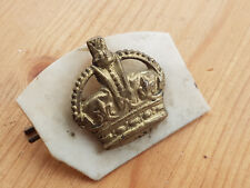 Original Vintage WW2 Kings Crown Rank Badge with clip and plastic backing piece
