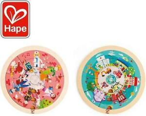 NEW Hape Jobs Roundabout Wooden Puzzle - Double Sided Childrens Puzzle