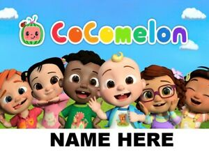 PERSONALISED LAMINATED A4 COCOMELON  NOVELTY  PLACE MAT TABLE MAT/PICTURE