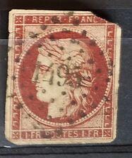 Timbre France : Yvert 6 Cérès 1Fr Carmin 1849