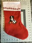 Bernese Mountain Dog Soccer Embroidered Christmas Stocking Carols Crate Covers