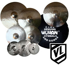 "Wuhan Cymbal Set 8"" 10"" 12"" 16"" 18"" 20"" 14"" HH & Bag - Splashes, Crashes, Rides"