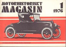 Motorhistoriskt Magasin Swedish Car Magazine 1 1976 Chevrolet 1923 032717nonDBE