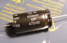 10x Elko 470uF 40V +50/-10% axial, long life, Siemens B41588-M7477-T