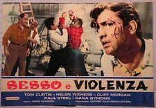 Fotobusta SESSO E VIOLENZA 1962 RARA!! TOM CURTIS, HELEN WITHERS, CLIFF MORGAN