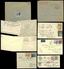 POLAND 1912-1940s 12 stamps on 5 COVERS...FISCHLER DYBOSKI DREIKURS