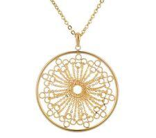 "Joan Rivers Goldtone Starburst Lace Pendant 18+ 3"" Extender & No Stone Necklace"