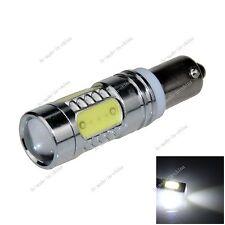 1X White BAX9S H6W 5 COB LED 7.5W Non-Polar Light Bulb Lamp AC/DC 12-24V K201
