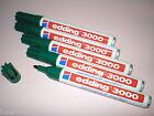 5 Pezzi Edding 3000 Pennarello indelebile verde Punta tonda 1,5 -3 mm NUOVO