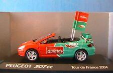 PEUGEOT 307 CC PMU TDF 2004 NOREV 473766 1/43 QUINTE +