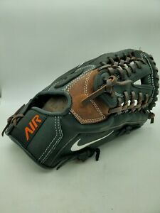 "Nike N1 Air 11.5"" Baseball Softball Glove Black Steerhide Leather RHT Mens"