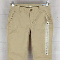 Old Navy womens size 0 stretch solid beige flat front skinny chino pants NWT