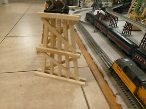 G Scale Model Train Garden Trestle Custom 12 inch Set of 10. Use for LGB Lionel