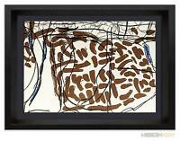 Jean-Paul RIOPELLE Original COLOR Lithograph LIMITED Ed. 56x38cm  + Custom FRAME