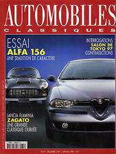 REVUE MAGAZINE AUTOMOBILES CLASSIQUES N°87 1997/1998 ALFA 156 LANCIA FLAMINIA
