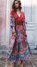 Spell Designs BNWT Sz M Lotus Kimono Maxi Gown + Waist Sash Kimono Sleeves
