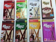 Korean snack Lotte Pepero Chocolate Stick Snack Korean cookie - All type 1pack