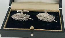 London Cufflink Company Feather Cufflinks Silver 925.Holland&Holland Sample Sale