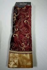 NWT Christmas Tree Skirt 48 inches The Christmas Shoppe Burgundy & Gold