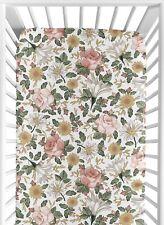 Vintage Floral Sweet Jojo Boho Girl Baby Toddler Bed Nursery Fitted Crib Sheet