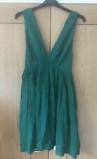 Kate Moss Deep V Green Dress Size 12 From TOPSHOP Very Rare Vintage