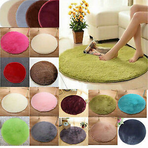 Comfy Fluffy Rugs Anti-Skid Area Rug Dining Room Carpet Home Bedroom Shaggy Mat