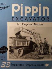 Pippin Color Backhoe Implement Attachment Sales Brochure Catalog Farm Ferguson