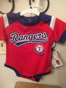 MLB Texas Rangers Newborn Infant Two Piece Set Shorts & Bodysuit 0-3 Mos. - NEW!