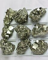 1 X High Grade Pyrite Crystal + Display Case - Fools Gold - Peru - Great Gift