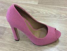Odeon High heel shoe in Pink Snakeskin Pattern  UK6
