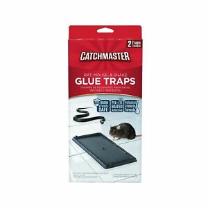 Catchmaster 402 Baited Rat, Mouse and Snake Glue Traps 2 Count 3 Pack