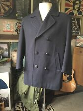 "Vintage Gloverall Reefer Peacoat - MADE IN ENGLAND Navy Blue - Medium 42"" - Mod"
