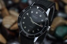 Vintage WALTHAM 17 Jewel Hand Wind 36mm Diver's Watch Great Dial