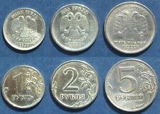3 MÜNZEN - 1, 2, 5 RUBEL MÜNZEN/COINS RUßLAND 2007 MMD, 2007 MMD, 1998 MMD